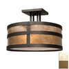 Steel Partners 18-in W Architectural Bronze Semi-Flush Mount Light