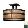 Steel Partners 18-in W Verdi Gris (Interior) Semi-Flush Mount Light