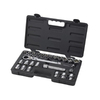 KD Tools Standard (SAE) and Metric Mechanic's Tool Set with Hard Case (25-Piece)