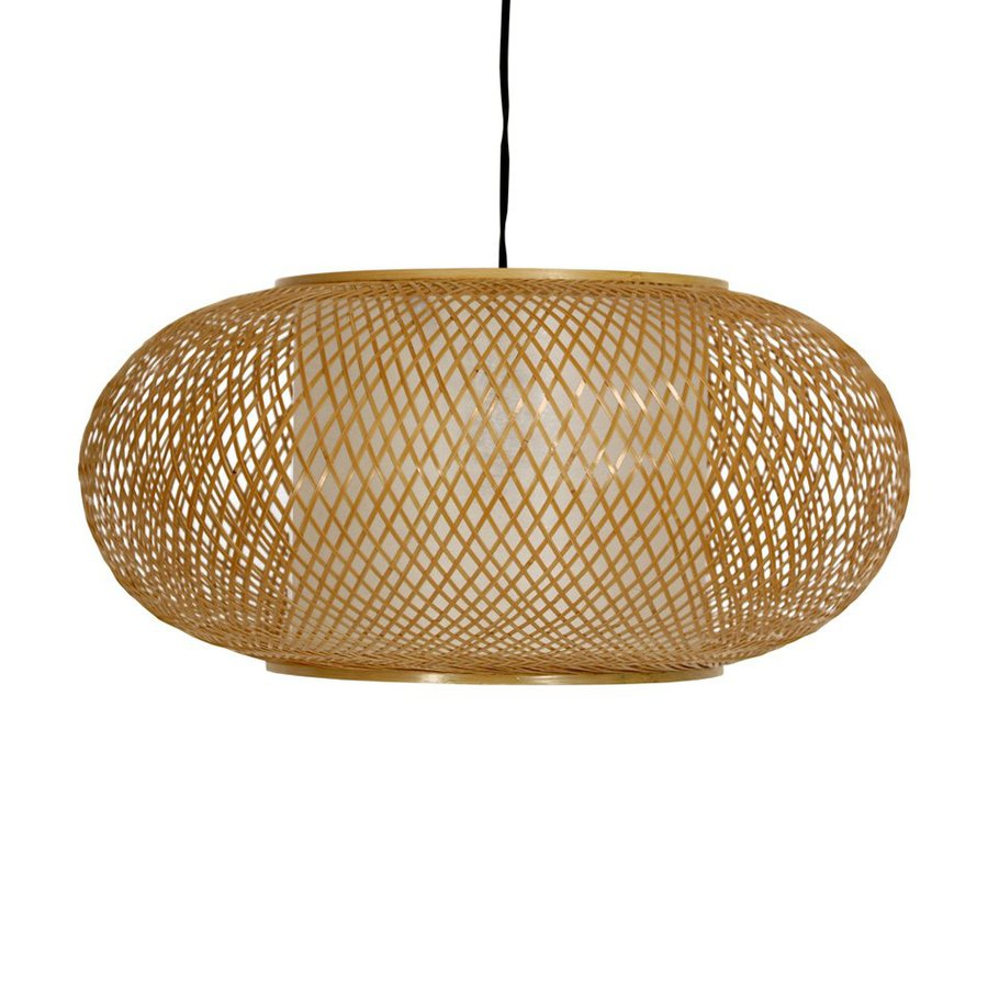 Shop Oriental Furniture Japanese Lanterns 18 In W Honey Plug In Standard Pendant Light With