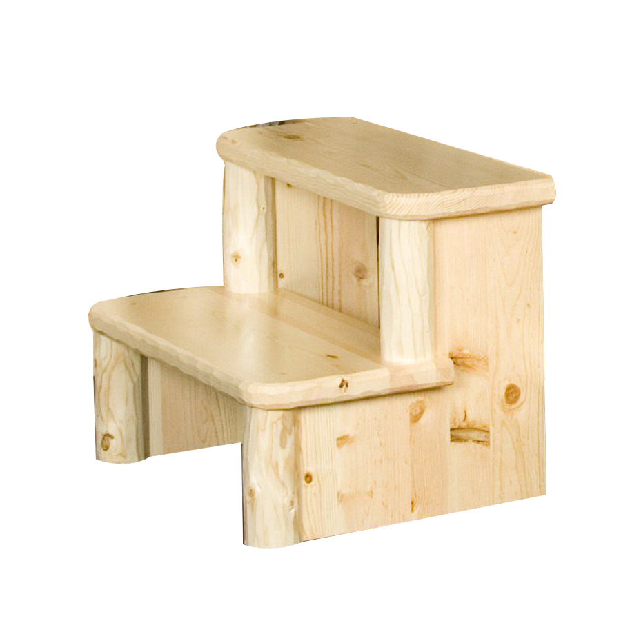 Shop Viking Industries 2 Step Wood Step Stool At Lowes Com