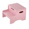 KidKraft Pink 2-Step Wood Kids Step Stool