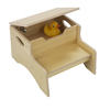 KidKraft Natural 2-Step Wood Kids Step Stool