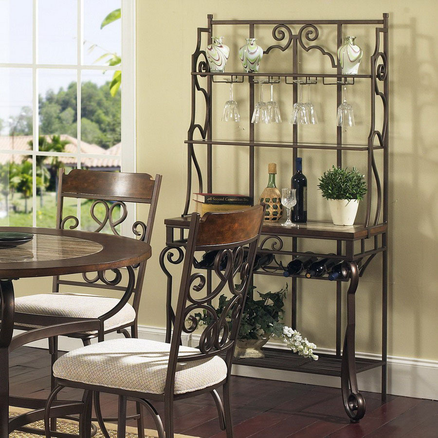 Shop Steve Silver Company Callistro Bronze Rectangular Bakers Rack At Lowes.com