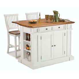 Home Styles 49.75-in L x 26.5-in W x 36.5-in H White Kitchen Island