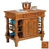 Home Styles 42-in L x 24-in W x 36-in H Cottage Oak Kitchen Island