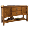 Somerton Home Furnishings Medium Brown Oak Rectangular Serving Table