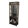 Oriental Furniture Lacquer Black Lacquer Rectangular China Cabinet