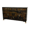 Oriental Furniture Lacquer Black Lacquer Rectangular Buffet