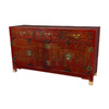 Oriental Furniture Lacquer Red Lacquer Rectangular Buffet