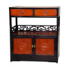 Oriental Furniture 30-in L x 10-in W x 34-in H Two-Tone Rosewood Kitchen Island