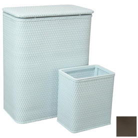 Redmon 2-Piece Wicker Basket and Clothes Hamper Set