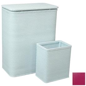 Redmon 2-Piece Wicker Basket and Clothes Hamper Set