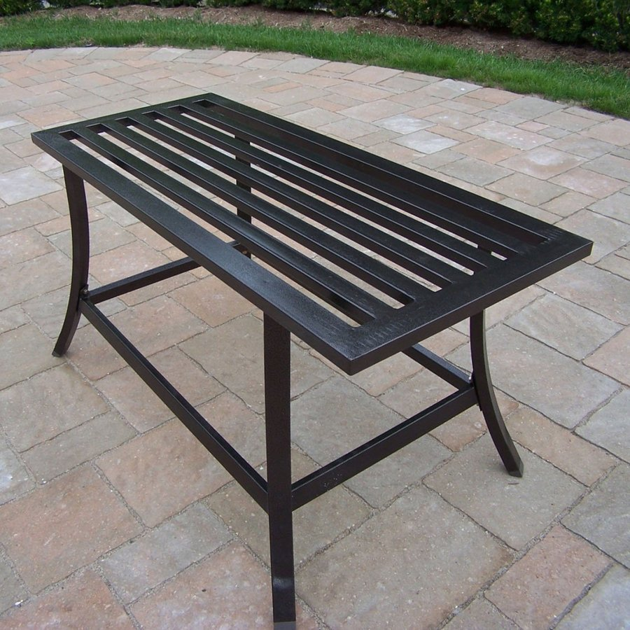 Shop Oakland Living Rochester Wrought Iron Rectangle Patio Coffee Table At