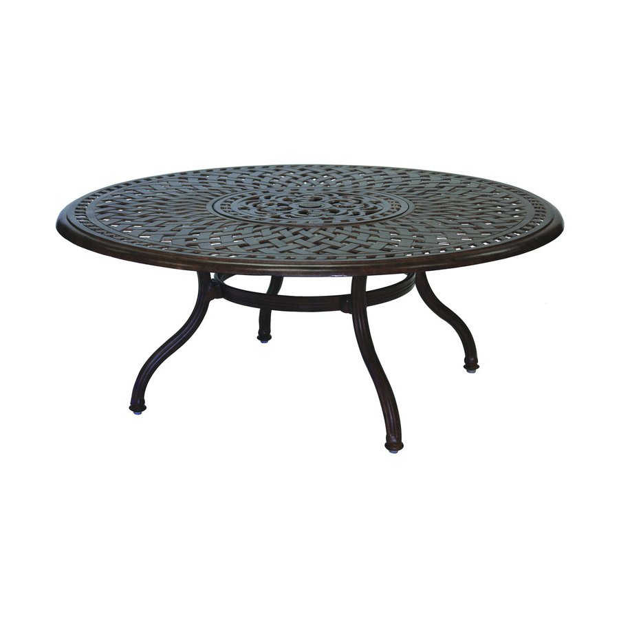 Aluminum Patio Coffee Table: Shop Darlee Series 60 Aluminum Round Patio Coffee Table At