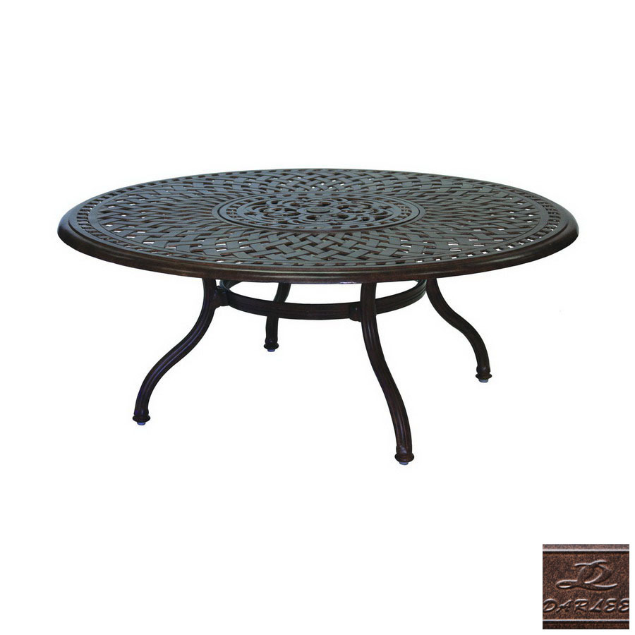 Shop darlee series 60 aluminum round patio coffee table at Patio coffee tables