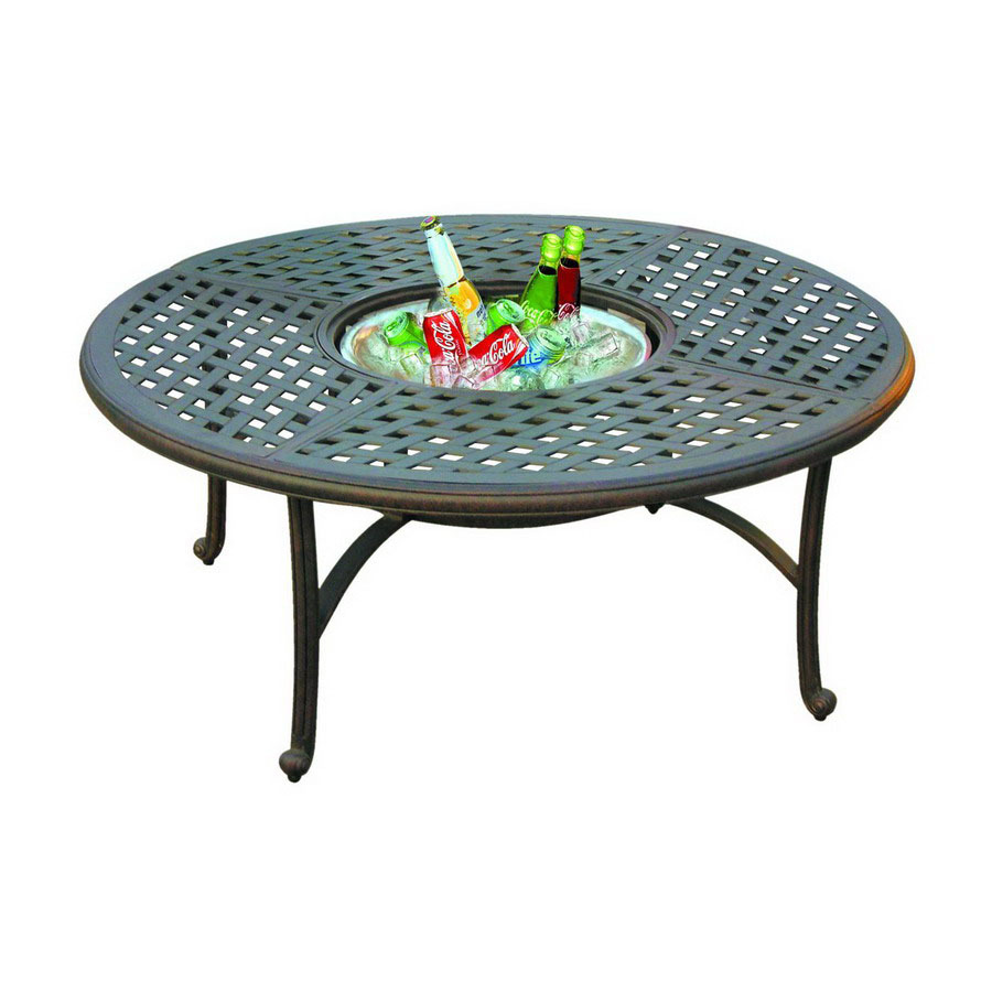 shop darlee series 30 aluminum round patio coffee table at