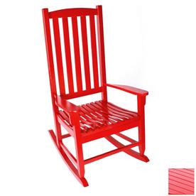 Shop Jordan Manufacturing Red Outdoor Rocking Chair at