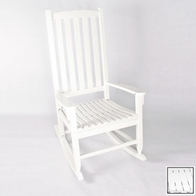 ... Jordan Manufacturing White Paint Outdoor Rocking Chair at Lowes.com