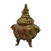 Oriental Furniture 6-in H Quan Yin Dragon Incense Burner Garden Statue
