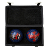 Oriental Furniture Set of 2 Metal Dragon and Phoenix Health Balls