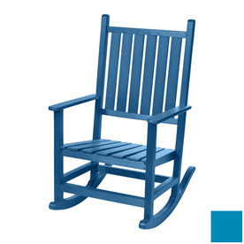 shop beachfront furniture high tide bahama blue plastic outdoor rocking chair at. Black Bedroom Furniture Sets. Home Design Ideas
