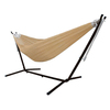 Vivere Sand Fabric Hammock with Stand