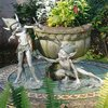 Design Toscano Sling and Stretch The Garden Pixies Fairy Garden Statues