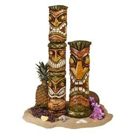 Design Toscano Set of 2 Aloha Hawaii Tikis Garden Statues