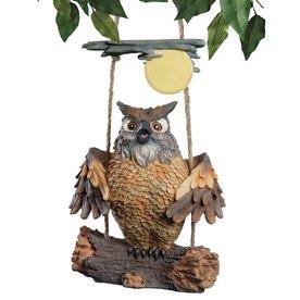 Design Toscano Howie The Hoot Owl 7.5-in Garden Statue