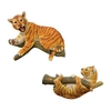 Design Toscano H Up A Tree Tiger Cub Statue Lounging and Hanging Cub Set Garden Statue