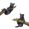 Design Toscano H Up A Tree Hanging Black Bear Climbing and Hanging Cub Statue Set Garden Statue