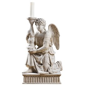 Design Toscano Michelangelo's Kneeling Angel 36-in Garden Statue