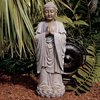 Design Toscano 30-in The Enlightened Buddha Garden Statue