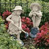 Design Toscano Set of 2 Young Gardeners Garden Statues