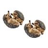 Design Toscano Set of 2 Hyper Hedgehogs 5.5-in Garden Statues
