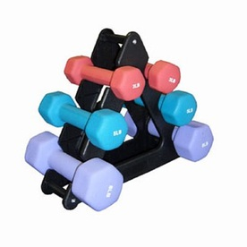 Amber Sporting Goods Set of 6 (3 to 8 lbs) Multiple Colors Fixed-Weight Dumbbells