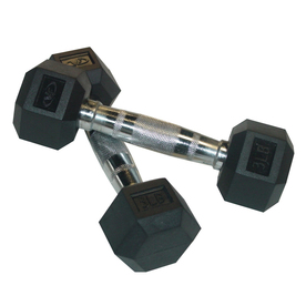 Valor Fitness Set of Two 6 -lb Black Fixed-Weight Dumbbells