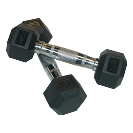Valor Fitness Set of Two 10 -lb Black Fixed-Weight Dumbbells