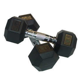 Valor Fitness Set of Two 20 -lb Black Fixed-Weight Dumbbells