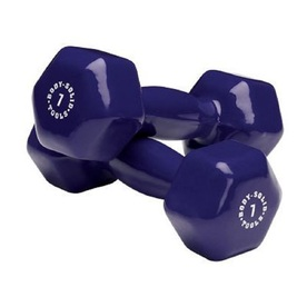 Body Solid Tools Set of Two 14 -lb Purple Fixed-Weight Dumbbells