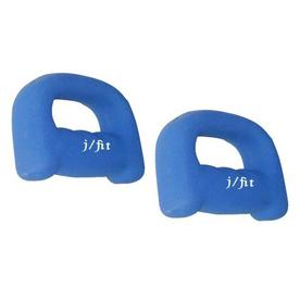 J FIT Set of Two 4-lb Blue Fixed-Weight Dumbbells