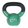 J FIT Green 10 lbs Fixed-Weight Kettlebell