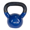 J FIT Blue 15 lbs Fixed-Weight Kettlebell