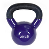 J FIT Purple 20 lbs Fixed-Weight Kettlebell