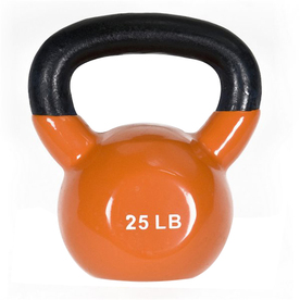 J FIT Orange 25 lbs Fixed-Weight Kettlebell