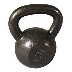 J FIT Gray 35 lbs Fixed-Weight Kettlebell