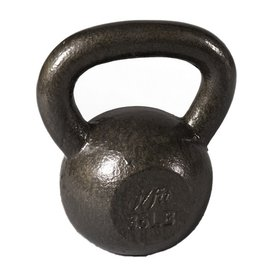 J FIT Gray 40 lbs Fixed-Weight Kettlebell