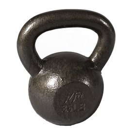 J FIT Gray 50 lbs Fixed-Weight Kettlebell