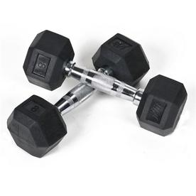 J FIT Set of Two 16-lb Black Fixed-Weight Dumbbells